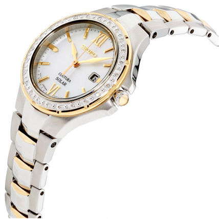 SEIKO Casual Style Blended Fabrics Metal Round Party Style