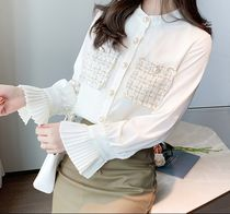 Long Sleeves Plain Medium Party Style Office Style