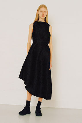 CECILIE BAHNSEN Sleeveless Plain Party Style Elegant Style Formal Style