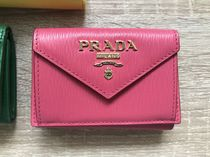 PRADA Plain Handmade Folding Wallet Folding Wallets