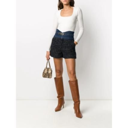 Short Casual Style Tweed Cotton Party Style