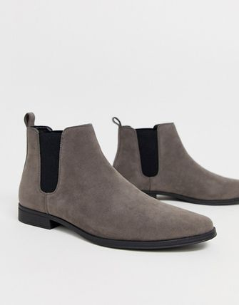 ASOS Suede Street Style Plain Chelsea Boots Chelsea Boots