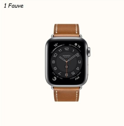 HERMES Casual Style Unisex Leather Square Office Style