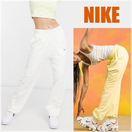 Nike Casual Style Street Style Plain Cotton Long Oversized Logo