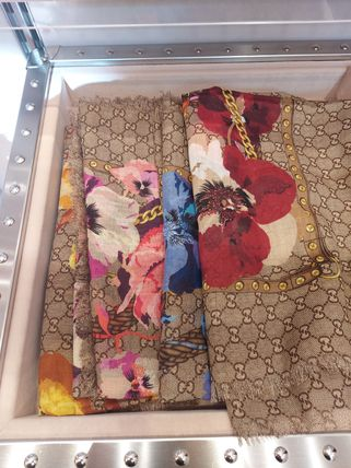 GUCCI Flower Patterns Wool Party Style Elegant Style