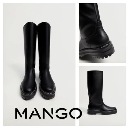 Platform Round Toe Casual Style Boots Boots