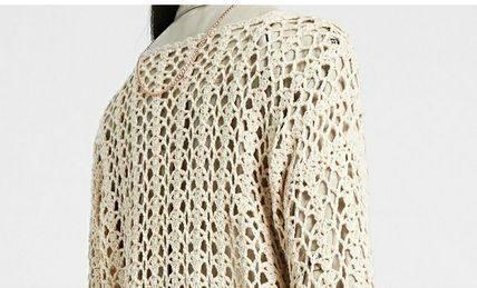 Short Flower Patterns Casual Style Boat Neck Long Sleeves