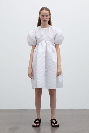 CECILIE BAHNSEN Cotton Party Style Elegant Style Puff Sleeves Dresses