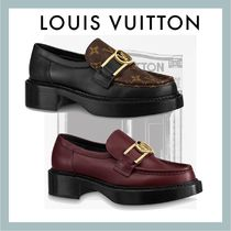 Louis Vuitton MONOGRAM Platform Block Heels Chunky Heels Loafer & Moccasin Shoes