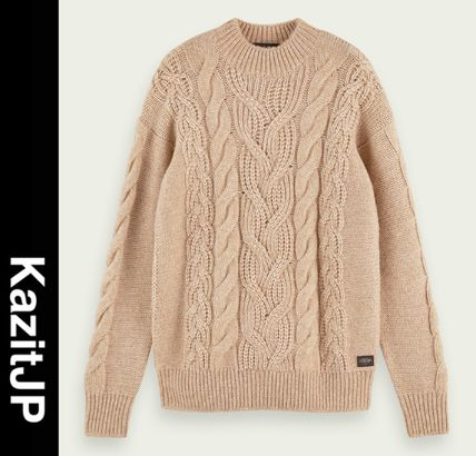 Cable Knit Pullovers Long Sleeves Surf Style Vests & Gillets