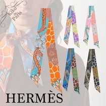 HERMES Casual Style Silk Office Style Elegant Style Formal Style