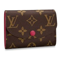 Louis Vuitton MONOGRAM Monogram Unisex Calfskin Leather Small Wallet Logo