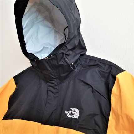THE NORTH FACE Unisex Nylon Plain Windbreaker Oversized Logo Biker Jackets