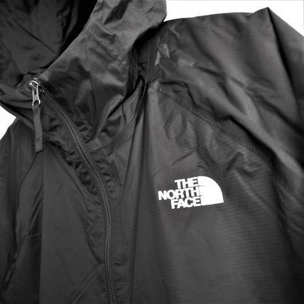 THE NORTH FACE Unisex Nylon Street Style Plain Windbreaker Oversized Logo