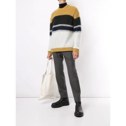 SOLID HOMME Stripes Unisex Long Sleeves Sweaters