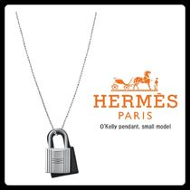 HERMES Kelly Casual Style Unisex Blended Fabrics Chain Leather