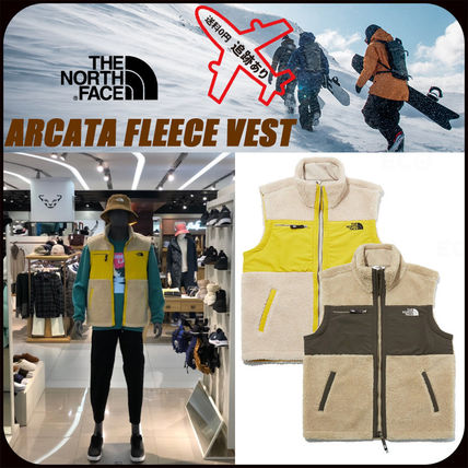 THE NORTH FACE ARCATA Street Style Logo Outdoor Vests & Gillets