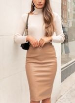 Lipsy Pencil Skirts Faux Fur Plain Skirts