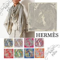 HERMES Casual Style Cashmere Silk Office Style Elegant Style