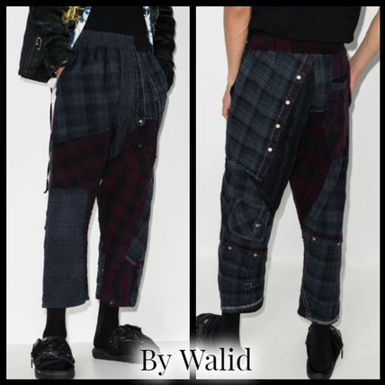 Other Plaid Patterns Cotton Cropped Pants