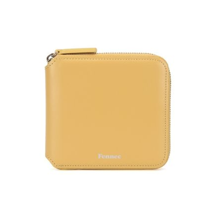 Unisex Street Style Plain Small Wallet Logo Folding Wallets