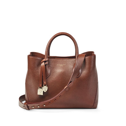 Casual Style Calfskin 2WAY 3WAY Plain Leather Office Style