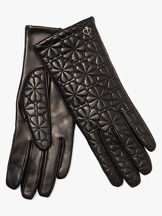 kate spade new york Flower Patterns Leather Logo Leather & Faux Leather Gloves