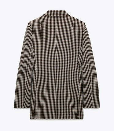 ZARA Other Plaid Patterns Casual Style Office Style Jackets