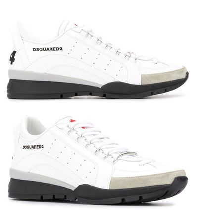 D SQUARED2 Leather Logo Sneakers