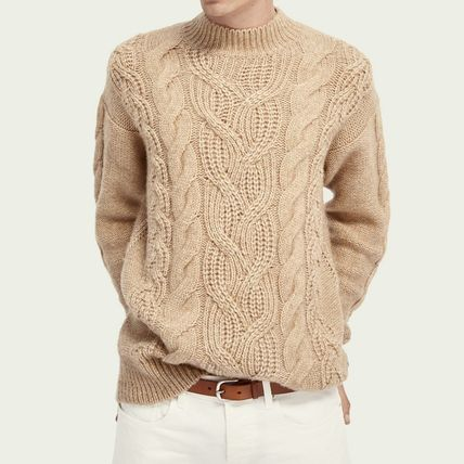 Scotch & Soda Crew Neck Cable Knit Wool Long Sleeves Surf Style