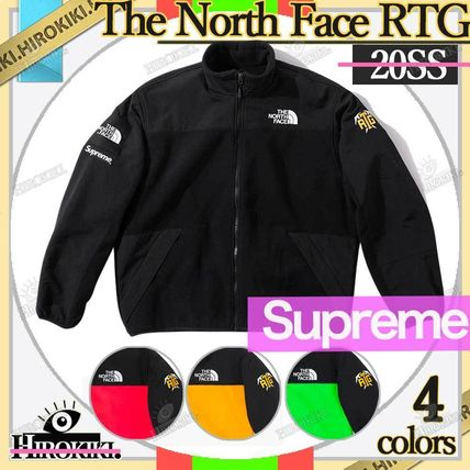 Supreme Street Style Collaboration Logo Fleece Jackets Jackets
