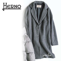 HERNO Casual Style Wool Plain Office Style Elegant Style Coats