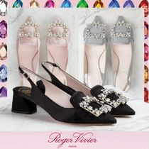 Roger Vivier Casual Style Plain Party Style With Jewels Elegant Style