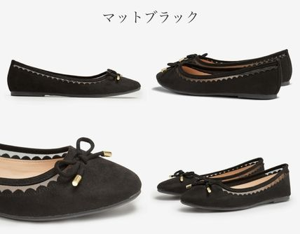 Round Toe Rubber Sole Casual Style Flats