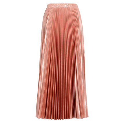 Max&Co. Flared Skirts Casual Style Pleated Skirts Plain Medium Long