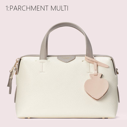 kate spade new york Casual Style 2WAY Bi-color Plain Leather Office Style