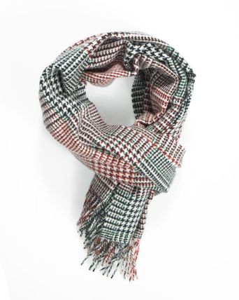 Other Plaid Patterns Unisex Cashmere Fringes