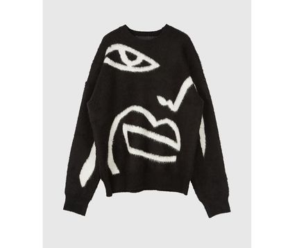 Raucohouse Sweaters Long Sleeves Oversized Logo Sweaters 9