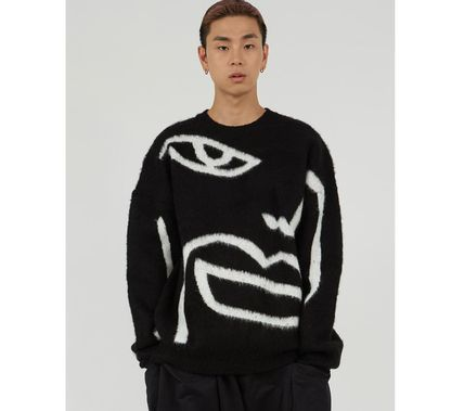 Raucohouse Long Sleeves Oversized Logo Sweaters