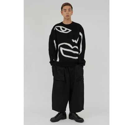 Raucohouse Sweaters Long Sleeves Oversized Logo Sweaters 4