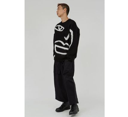 Raucohouse Sweaters Long Sleeves Oversized Logo Sweaters 5