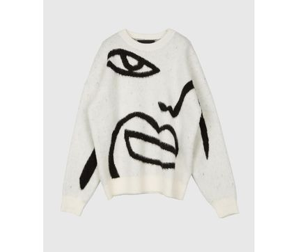 Raucohouse Sweaters Long Sleeves Oversized Logo Sweaters 7