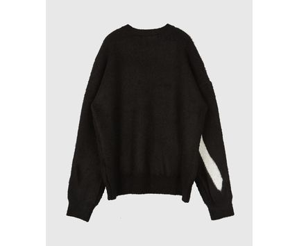 Raucohouse Sweaters Long Sleeves Oversized Logo Sweaters 10