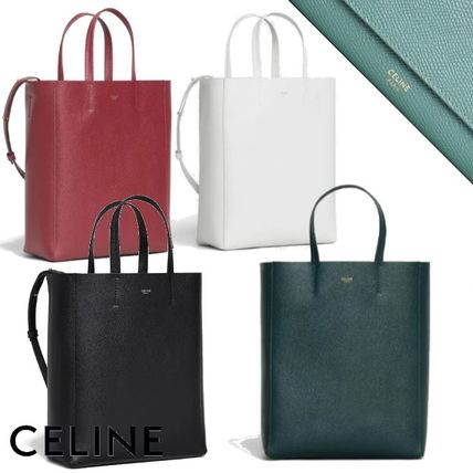 CELINE Cabas Casual Style Calfskin 2WAY Plain Office Style Elegant Style