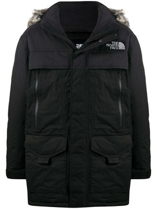 THE NORTH FACE Stand Collar Coats Unisex Blended Fabrics Street Style