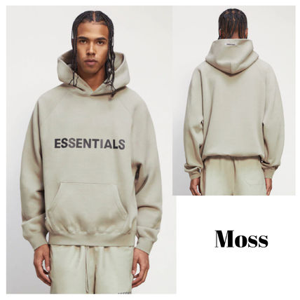 FEAR OF GOD ESSENTIALS Street Style Long Sleeves Logo Hoodies