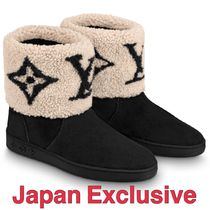 Louis Vuitton MONOGRAM Casual Style Suede Office Style Elegant Style Shearling Logo