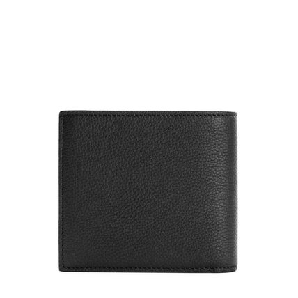 LOEWE Folding Wallet Logo Calfskin Folding Wallets