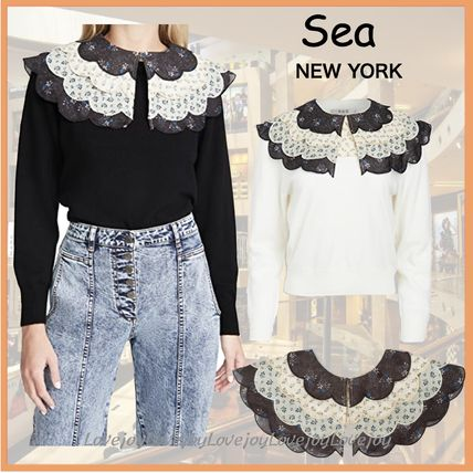 Sea NEW YORK Flower Patterns Casual Style Cotton Collars