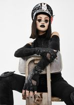 DOLLS KILL Faux Fur Leather & Faux Leather Gloves